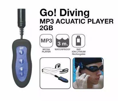 Mp3 2g Fone De Ouvido Prova D' Água Diving Zipy