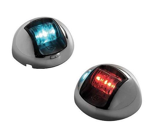 Luz de Navegação BB/BE LED Com Tampa em INOX Base em ABS Preto Attwood