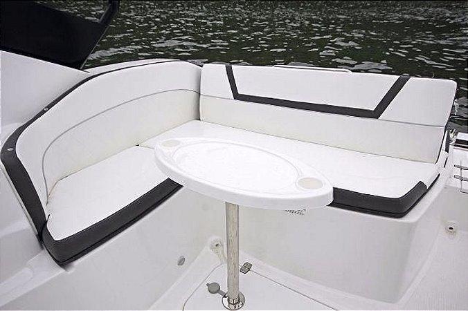 Mesa Centro Para Lanchas e Barcos De Fibra Com Suporte