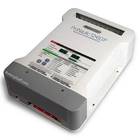 Carregador De Bateria Inteligente Pro Nautic 1260P 12V 60A