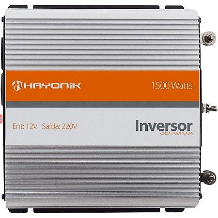 Inversor de Energia 12VDC para 220V 1500W Hayonik