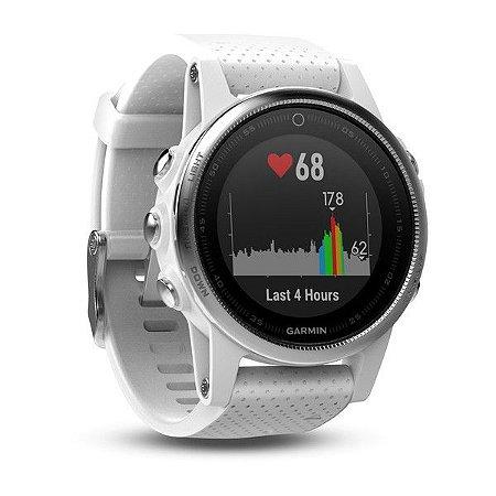 Relógio Multiesportivo Garmin Fenix 5S Branco Carrara
