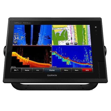 Gps Sonar Garmin GPSMAP 7412XSV Com Transducer e Carta Náutica