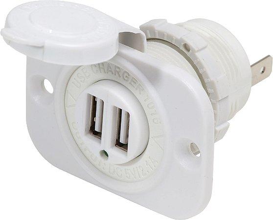 Entrada USB Marinizada Dupla 12/24v Blue Sea 1016200