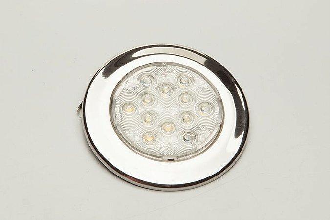 Luminária de Cabine Aço Inox Branco Quente Arieltek E1234