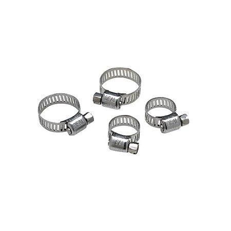 Braçadeira Aço Inox Kit 4 Unidades Pequeno Seachoice 23431