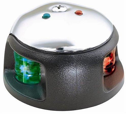 Luz de Proa Bicolor Inox e ABS em LED Attwood 3540-7