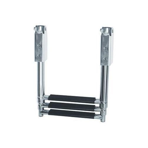 Escada Aço Inox Retrátil 3 Degraus Seachoice Antiderrapante