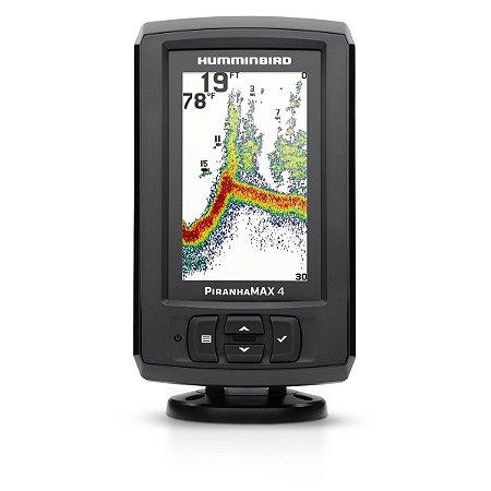 Sonar Humminbird PiranhaMAX 4 c/ Transdutor de Popa