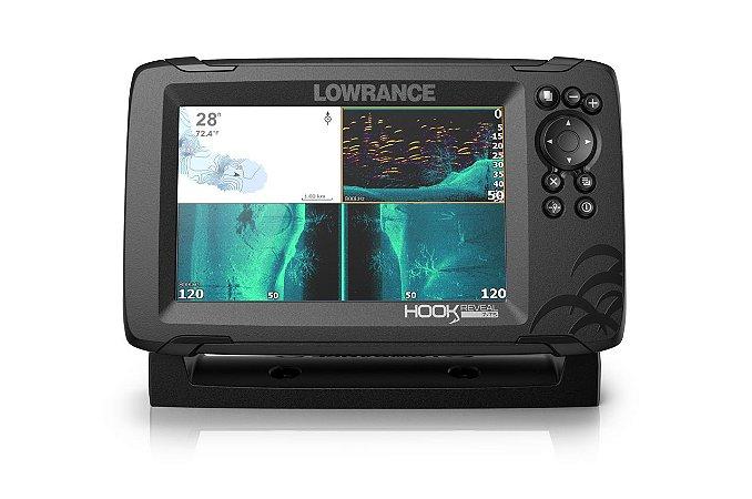 GPS Sonar Lowrance Hook Reveal 7x TripleShot c/ Transdutor