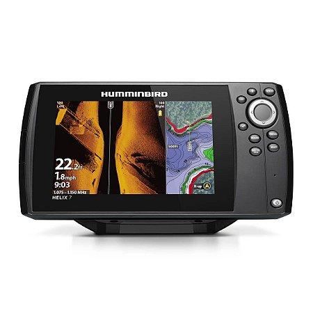 GPS Sonar Humminbird Helix 7 CHIRP MEGA SI GPS G3 Transdutor
