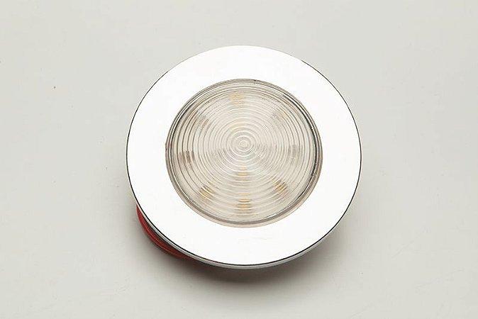 Luminária De Cabine Circular Branco Frio Arieltek E1182