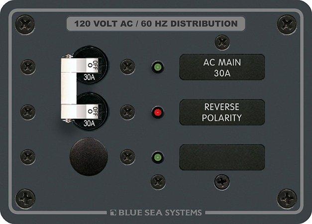 Painel de Distribuição AC Main + 1 Posição Blue Sea 8029
