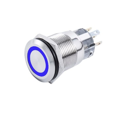 Interruptor p/ Painel Marinizado On-Off SeaTech Azul 12/24V