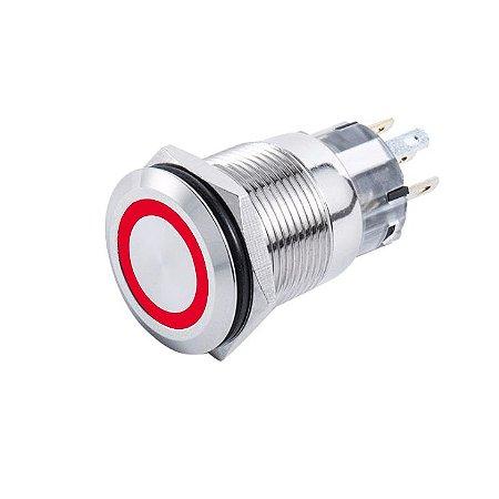 Interruptor p/ Painel Marinizado Mom-Off SeaTech Verm 12-24V