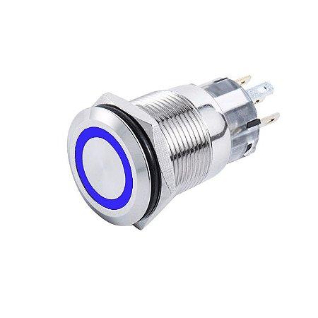 Interruptor p/ Painel Marinizado Mom-Off SeaTech Azul 12-24V