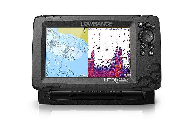 GPS Sonar Lowrence Hook Reveal 7 ROW c Transdutor HDI 83/200