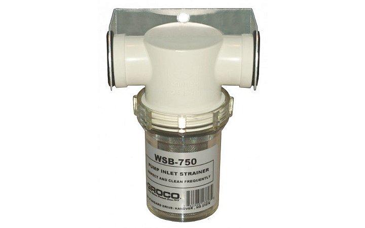 """Filtro de Água Salgada 3/4"""" com Suporte Plástico WSB-750-P"""