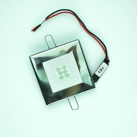 Luminária de Cabine Embutir Inox Quadrada LED 3.6W 12V