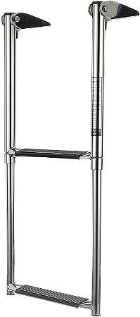 Escada Telescópica em Aço Inoxidável 2 Degraus Seachoice