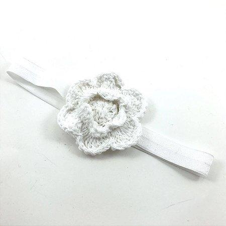 Faixa Flor de Crochê