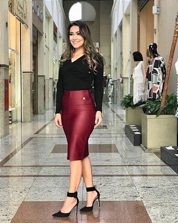 Saia Eduarda em Neopreme Resinado - Moda Feminina Cristã