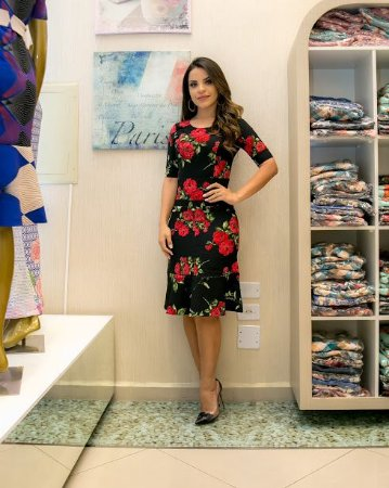 Vestido Betina em Alfaiataria - Moda Feminina Moda Evangélica