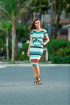 Vestido Mãe Verde Thauane Moda Feminina