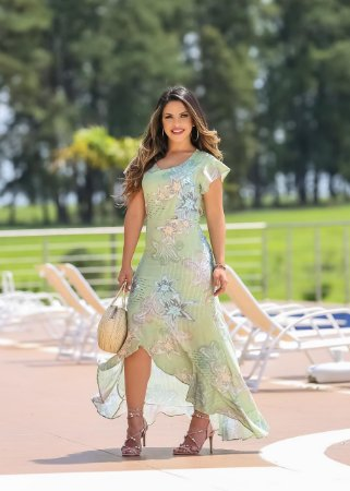 9309b1ebf Vestido Mullet Angela Verde - Moda Feminina - Karina Rampaso - Saias ...