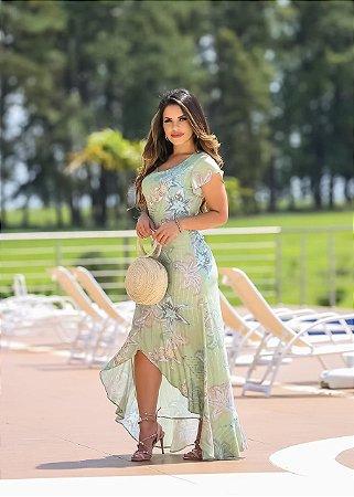 Vestido Mullet Angela Verde - Moda Feminina