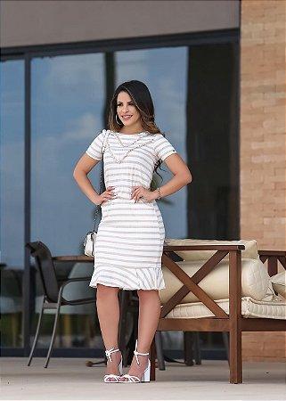 Vestido Analice Rosê - Moda Feminina Moda Evangélica