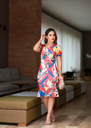 f4871acd5e1 Vestido Filipa em Crepe Mango- Moda Enncante