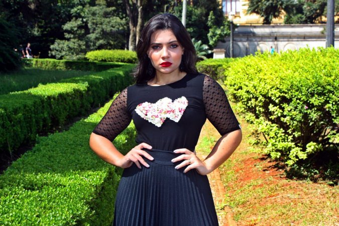 8f49f2c2cb5 T-Shirt Giselda Preta - Moda Enncante