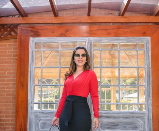 Body Catarina Vermelho Viscolaycra - Moda Feminina