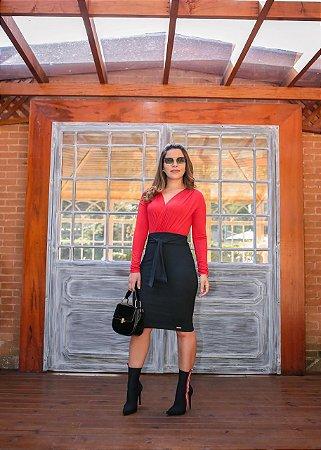 Saia Joana Preta  - Moda Feminina
