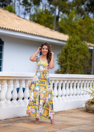 Vestido Longo Marina Amarelo - Moda Feminina