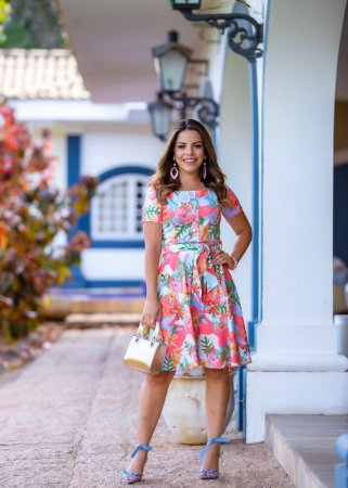 Vestido Linda Rosa - Moda Feminina