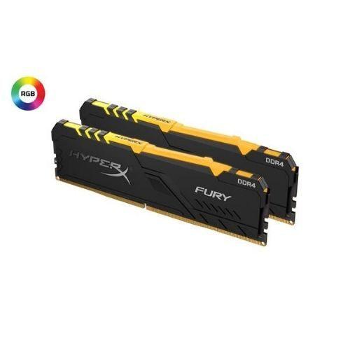 Memória DDR4 32GB (Kit c/ 2x16GB) 2666MHZ CL16 FURY RGB Kingston
