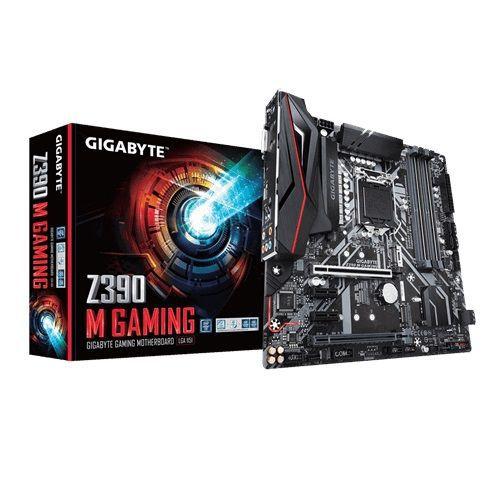 M1151 Placa Mãe LGA1151 Gigabyte Z390 M GAMING DDR4 ( 4x DDR4 / 1x PCIe 2.0 x16 / 1x PCIe 2.0 x4 / 2x PCIe 2.0 x1 / 1x M.2 / 4x USB 3.0 / 1x HDMI / 1x DVI / 1x PS2 )