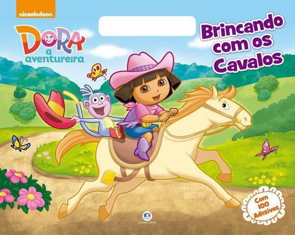 Livro de colorir  Dora Aventureira Brincando com os Cavalos