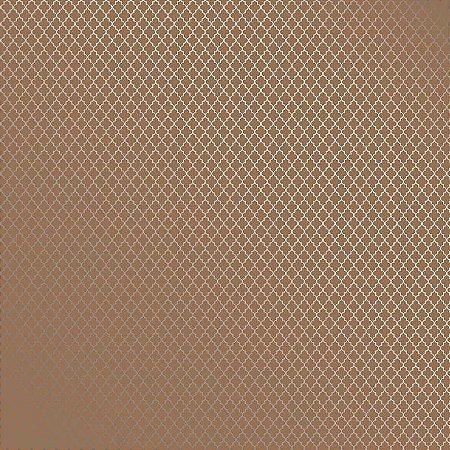 Folha de Scrapbook Kraft Marroquino Prata