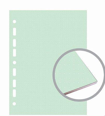 Refil Fichário Colegial 160x240 Pntilhado Colorido
