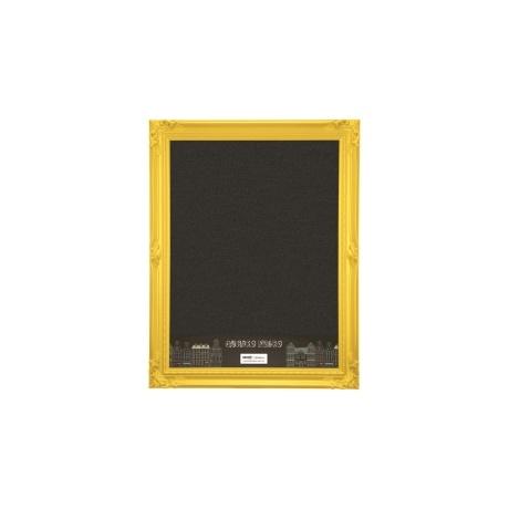 Quadro Negro com Moldura Amarela