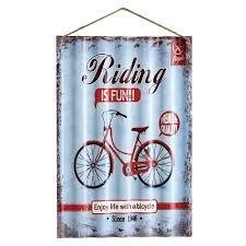 Placa de Metal - Riding is Fun