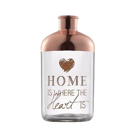 Vaso de Vidro Home is where the heart is - Grande