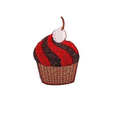Patch Cupcake Vermelho