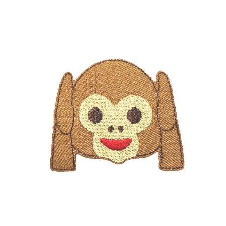 Patch Emoticon Macaco - Ouvido