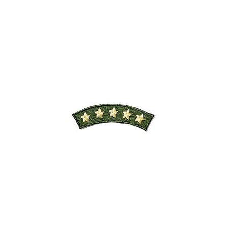 Patch Brasão 5 estrelas - Verde e amarelo