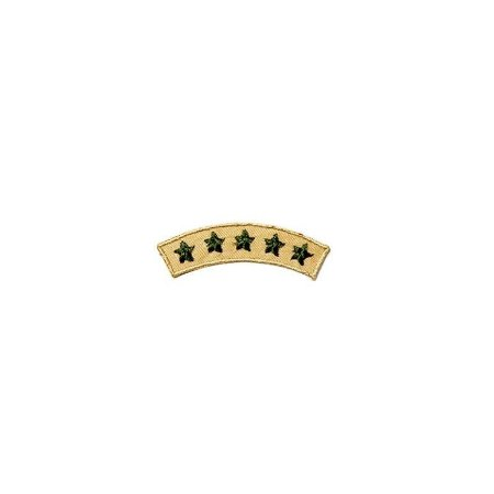 Patch Brasão 5 estrelas - Amarelo e verde