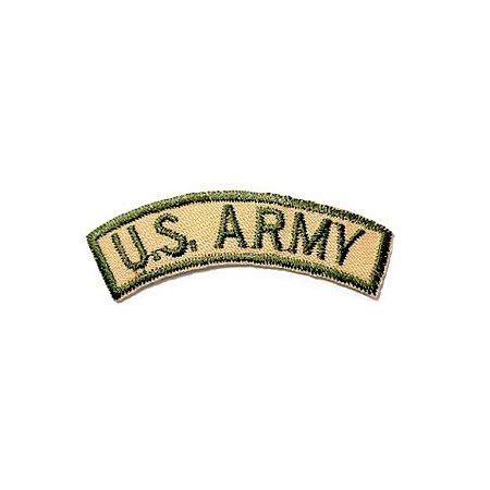 Patch Brasão US Army - Amarelo e verde